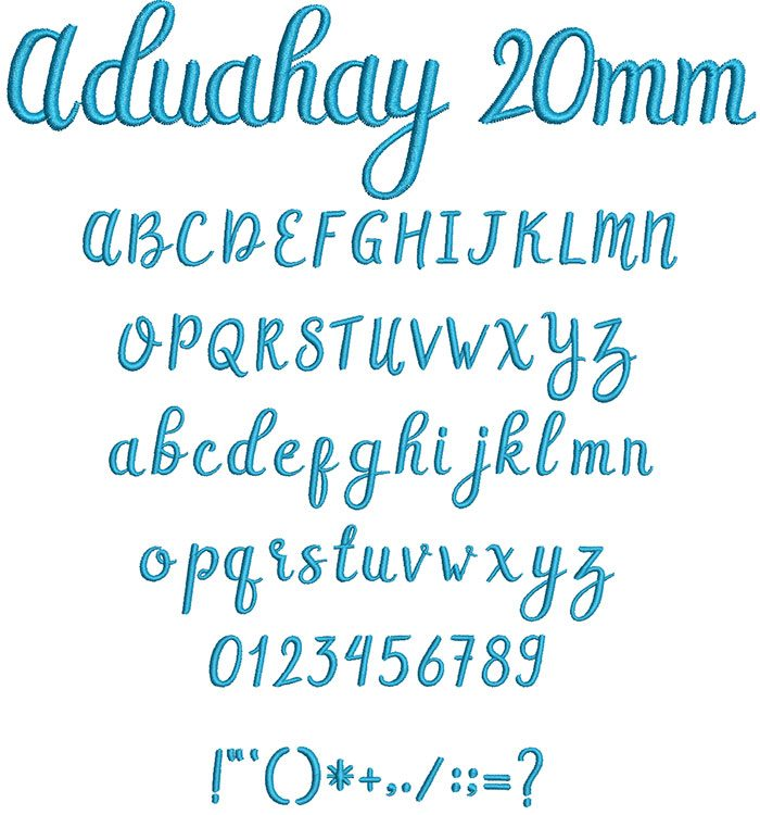 Aduahay 20mm Font