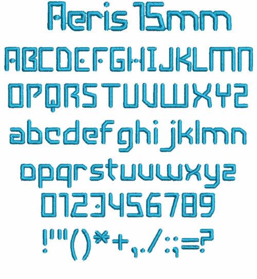 Aeris 15mm Font