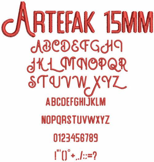 Artefak 15mm Font