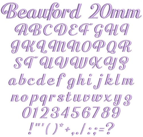 Beauford 20mm Font