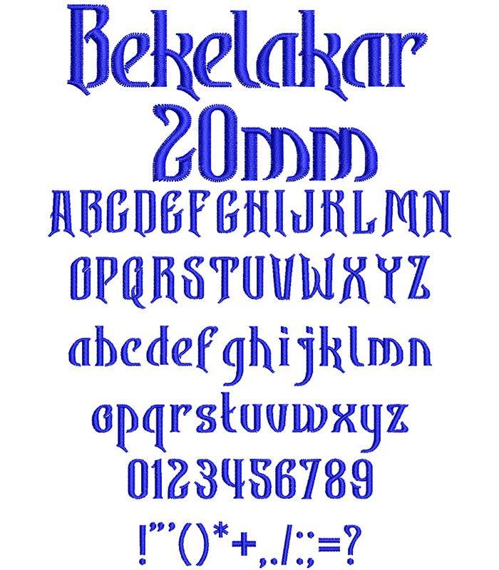 Bekelakar 20mm Font