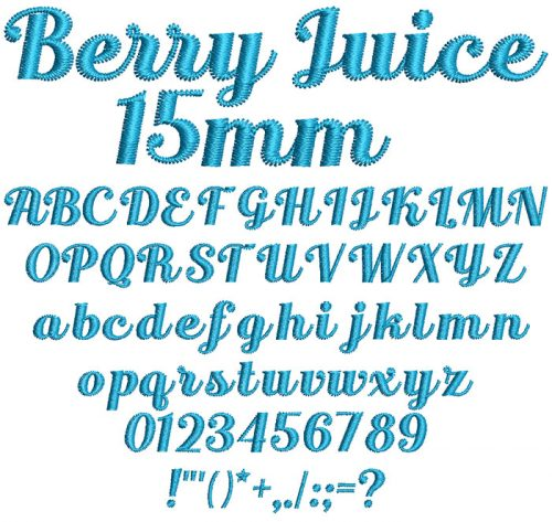 Berry Juice 15mm Font