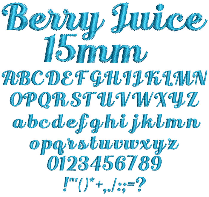 Berry Juice 15mm Font