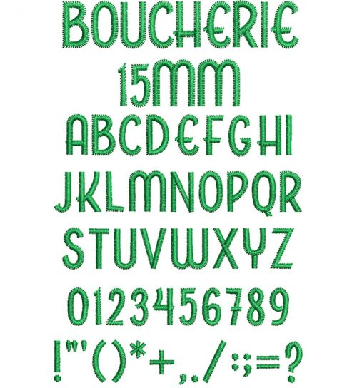 Boucherie 15mm Font