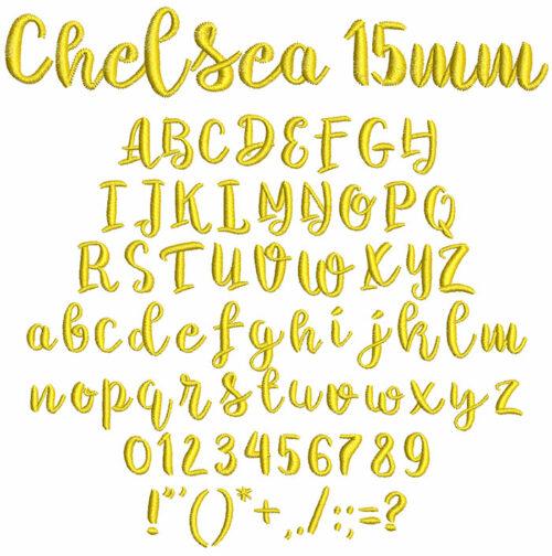 Chelsea 15mm Font