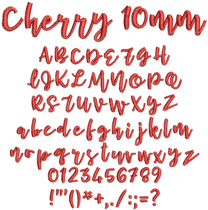 Cherry 10mm Font