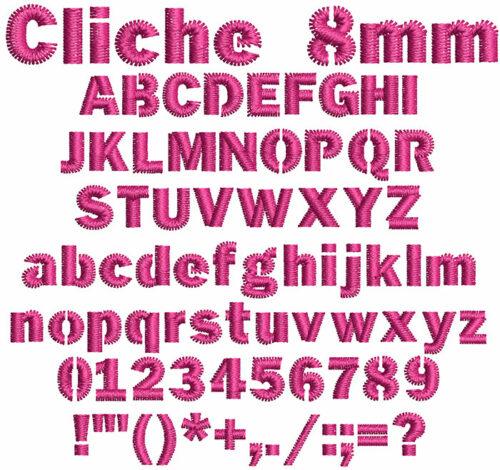 Cliche 8mm Font