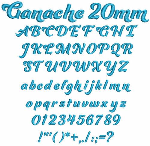 Ganache 20mm Font