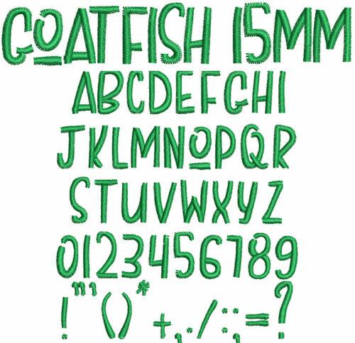 Goatfish 15mm Font