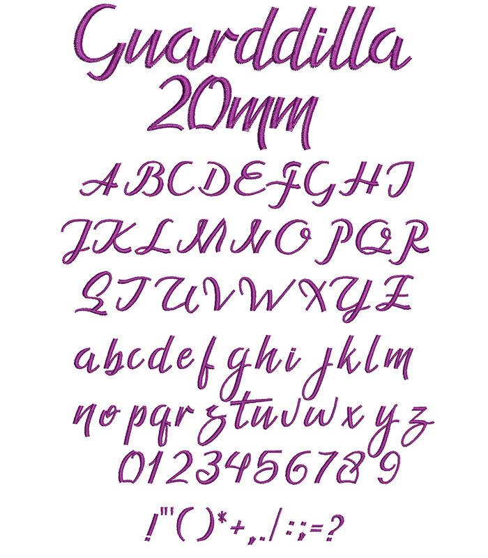 Guarddilla 20mm Font