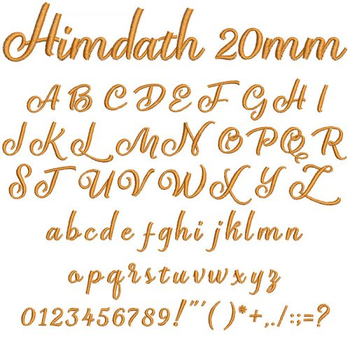 Himdath 20mm Font