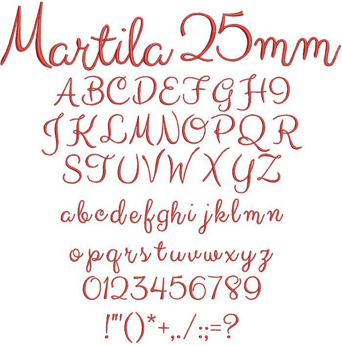 Martila 25mm Font