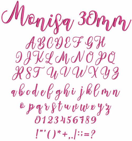 Monisa 30mm Font