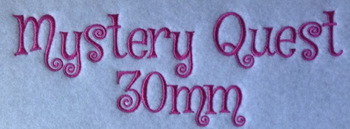 Mystery Quest 30mm Font
