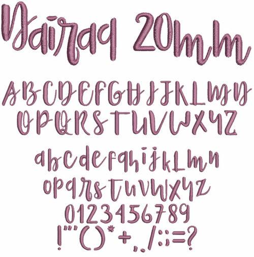 Nairaq 20mm Font