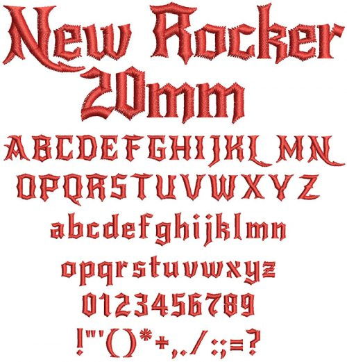 New Rocker 20mm Font