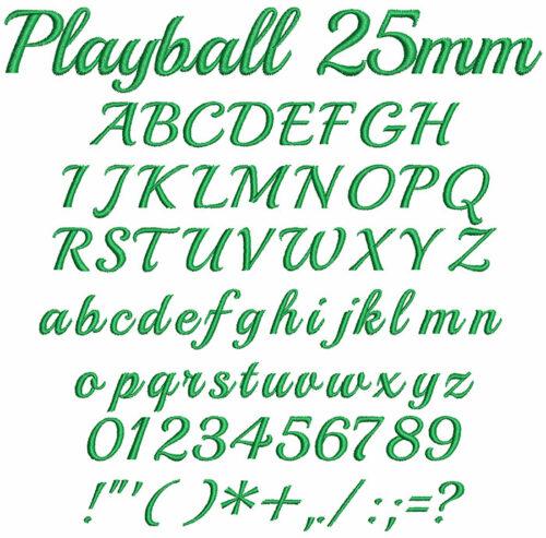 Play Ball 25mm Font
