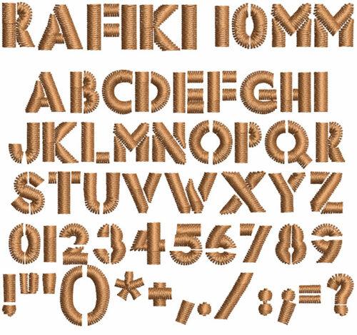 Rafiki 10mm Font