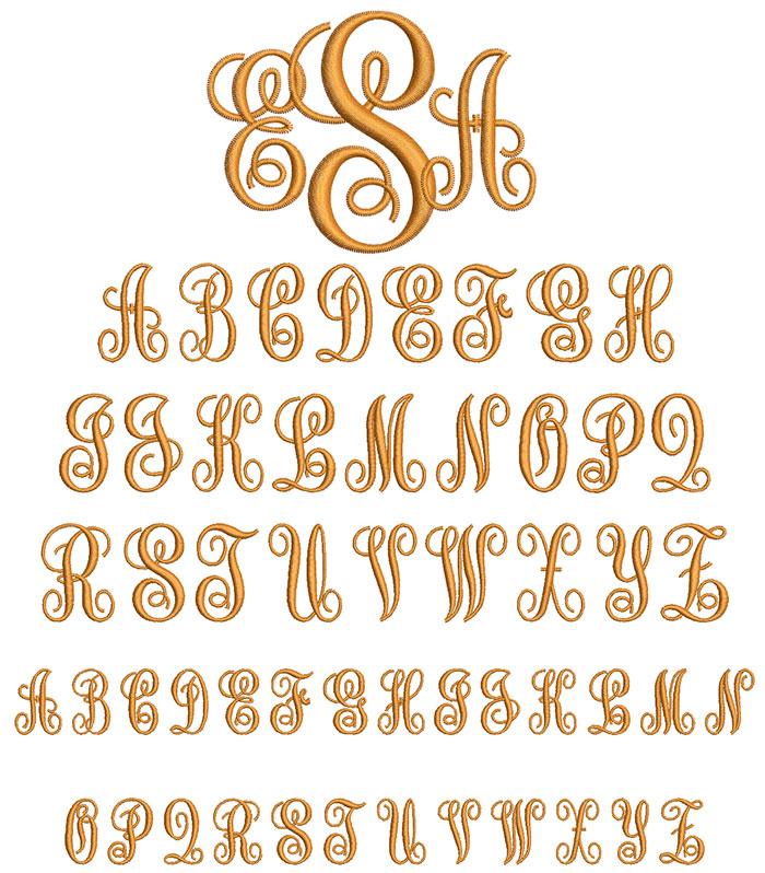 Style Monogram 50mm Font