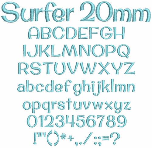 Surfer 20mm Font