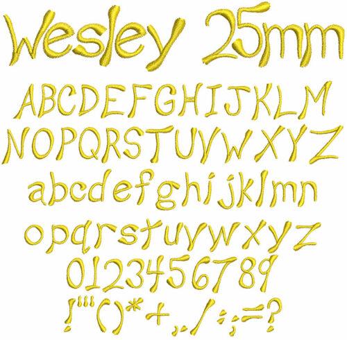 Wesley 25mm Font