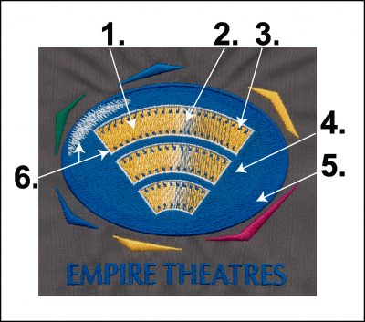 Embroidery Color Blending Example 10