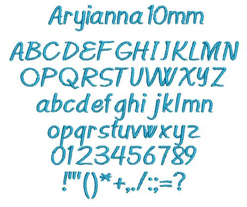 Aryianna 10mm Font