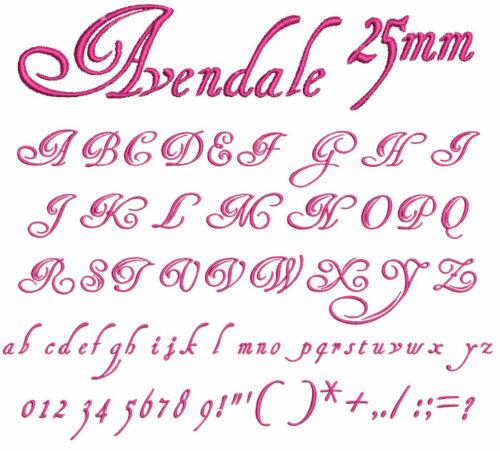 Avendale 25mm Font