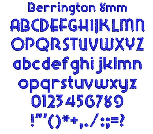 Berrington 8mm Font