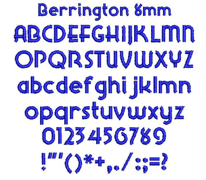 Berrington 8mm Font