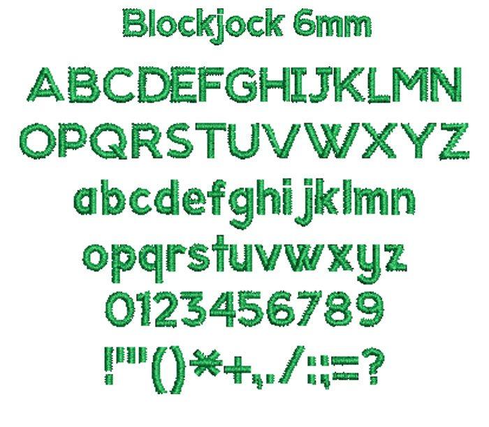 Blockjock 6mm Font