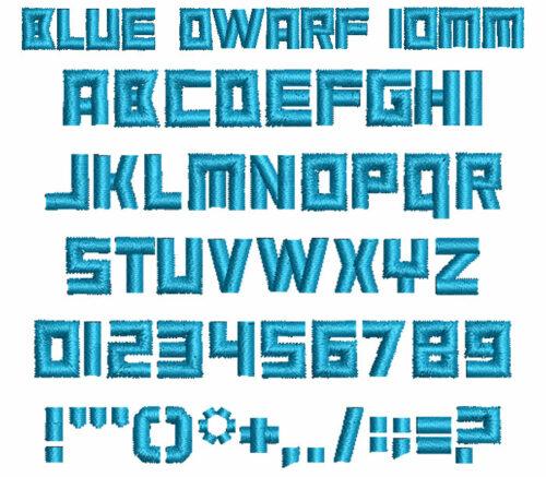 Blue Dwarf 10mm Font