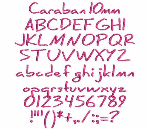 Caraban 10mm Font