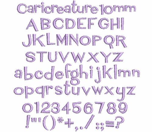 Caricreature 10mm Font