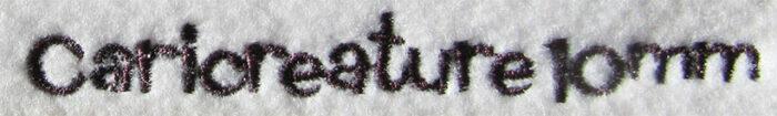 Caricrature esa font sew out