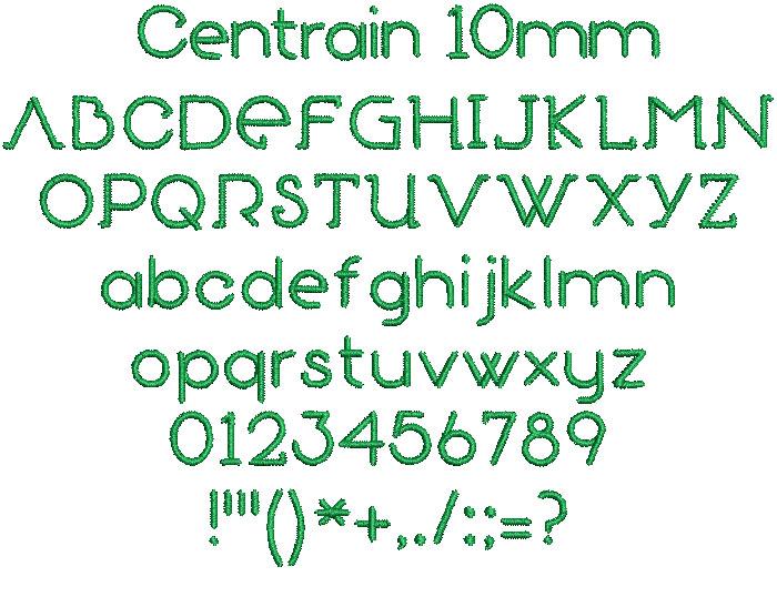 Centrain 10mm Font