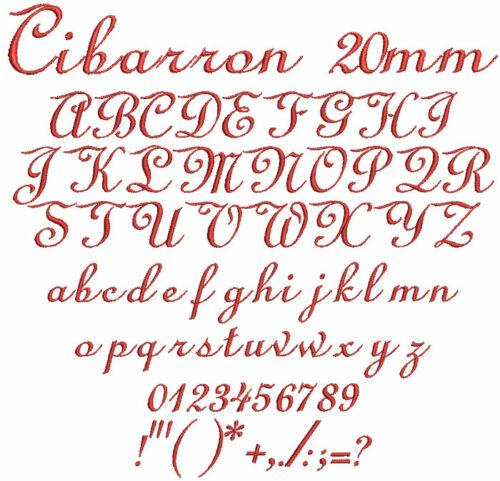 Cibarron 20mm Font