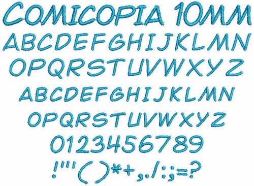 Comicopia 10mm Font