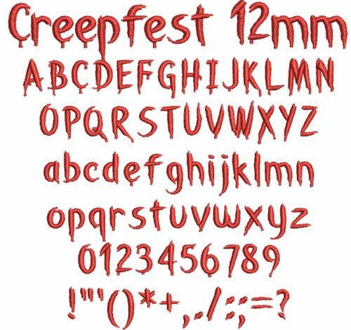 Creepfest 12mm Font