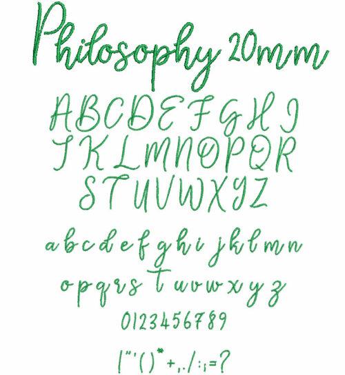 Philosophy 20mm Font