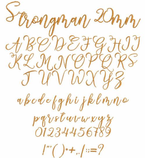 Strongman 20mm Font