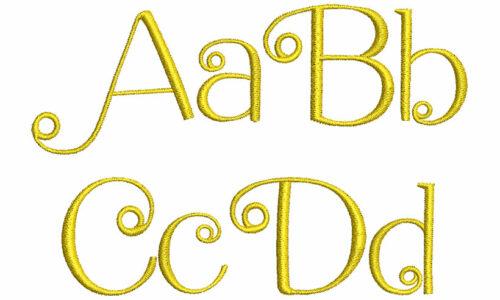 Dahlia esa font letters icon