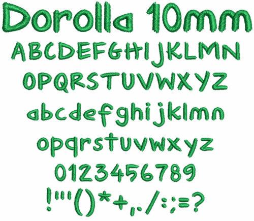 Dorolla 10mm Font
