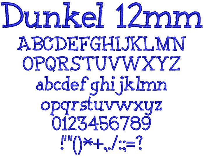 Dunkel 12mm Font