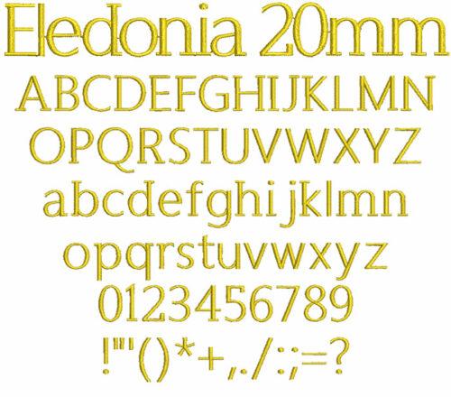 Eledonia 20mm Font