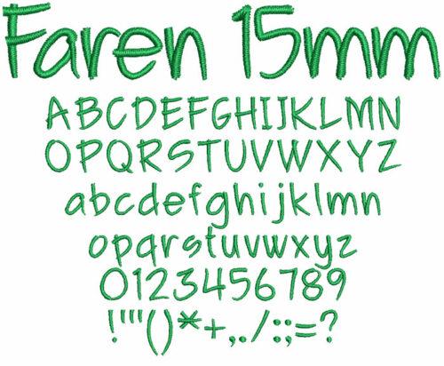 Faren 15mm Font