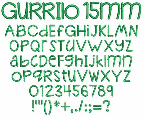 Gurrilo 15mm Font