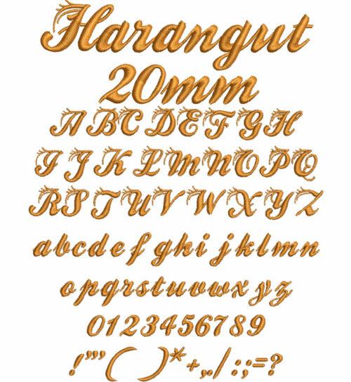 Harangut 20mm Font
