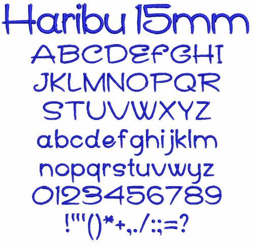 Haribu 15mm Font