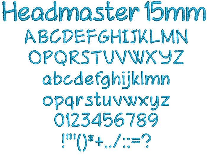 Headmaster 15mm Font
